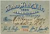 Iowa State Fair Pass, Des Moines, Iowa, Sept. 1885