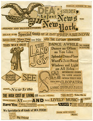 Dear Soldier, Latest News from New York, Oct. 30, 1917