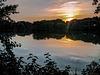 Sonnenuntergang am Raffteich