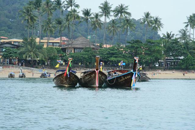 Longtail boats on Aonang beach