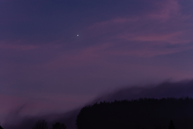 Abendstern.Und Nebel  - 20131203