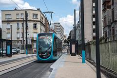 BESANCON: Essai du Tram Avenue Fontaine Argent 2014.06.18 - 01