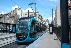 BESANCON: Essai du Tram Avenue Fontaine Argent 2014.06.18 - 02