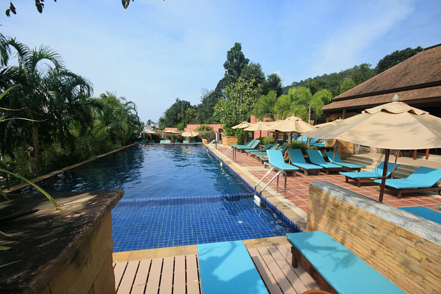 Hotel pool in Aonang