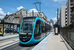 BESANCON: Essai du Tram Avenue Fontaine Argent 2014.06.18 - 03