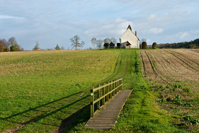 The little church in the middle of a field.......