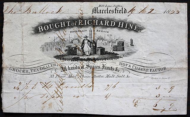 Richard Hine, Grocer & Tea Dealer