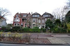 Houses on the Rijnsburgerweg in Leiden