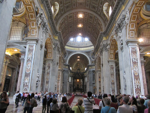 St. Peter's Basilica.  The size and scope of this place was difficult to grasp.