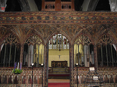 ROOD SCREEN ST SAVIOURS