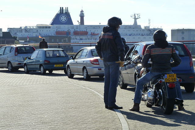 Waiting for the lock at IJmuiden
