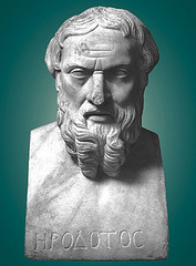 Herodotus, Histories 1.1-4 (sample) in ancient Greek