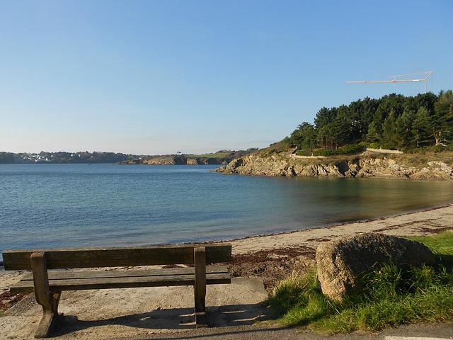 repos à la plage de kerfany ,