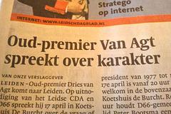Former Prime Minister Van Agt speaks about character