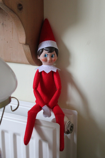 Christmas Elf - 5th Dec - Roasting his bottom!