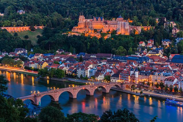 Heidelberg at Blue Hour  (135°)