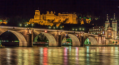 Heidelberg, Alte Brücke und Schloss (135°)