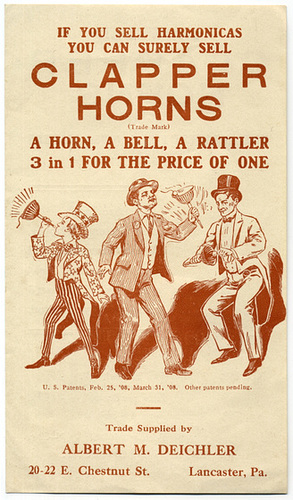 If You Can Sell Harmonicas You Can Surely Sell Clapper Horns