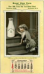 Broad View Farm Calendar, Rochester, N.H., 1927