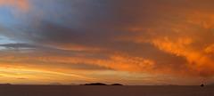 Sunset on Salar de Uyuni