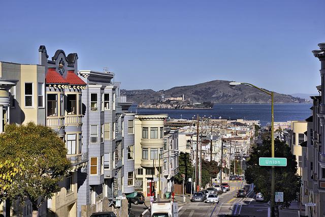 Alcatraz Island – Viewed from Mason and Union Streets, San Francisco, California