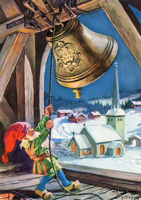Bell-ringing gnome