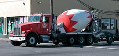 Kenworth cement truck in Portland, Oregon