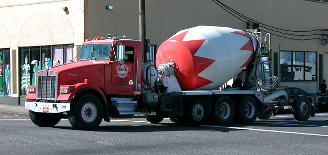 Kenworth cement truck in Portland, Oregon