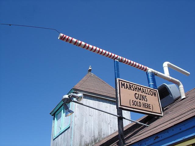 Marshmallow guns in the air / Guimauves en hauteur.