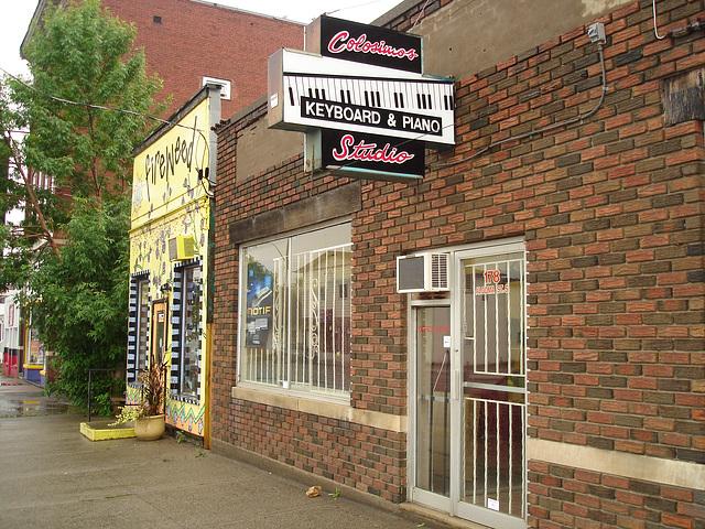 Fireweed funny house & Colosimo's Studio.