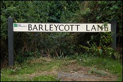 Barleycott Lane street sign