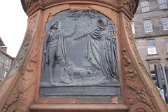 Detail of Burns Statue, Bernard Street, Leith, Edinburgh