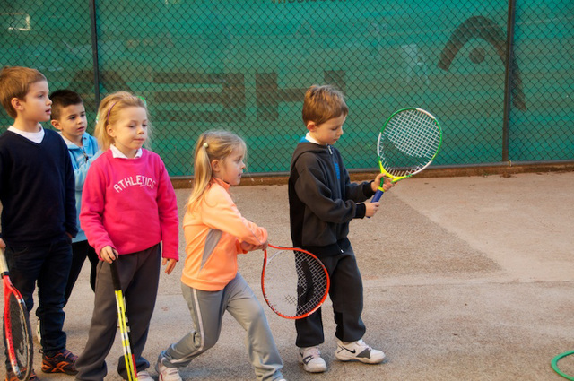 learning tennis!