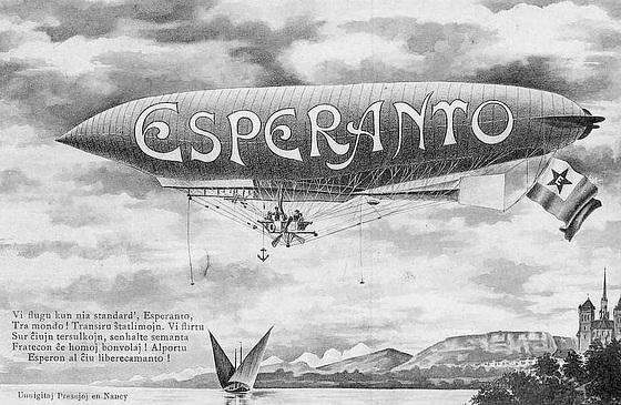 Esperanto-zepelino nigra-blanka