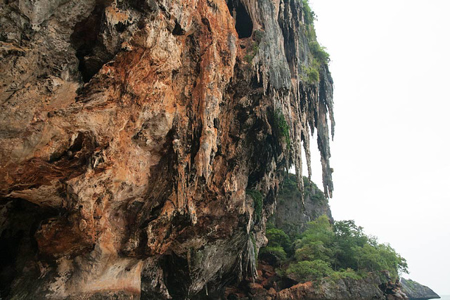 Weird cliff formations at Railay