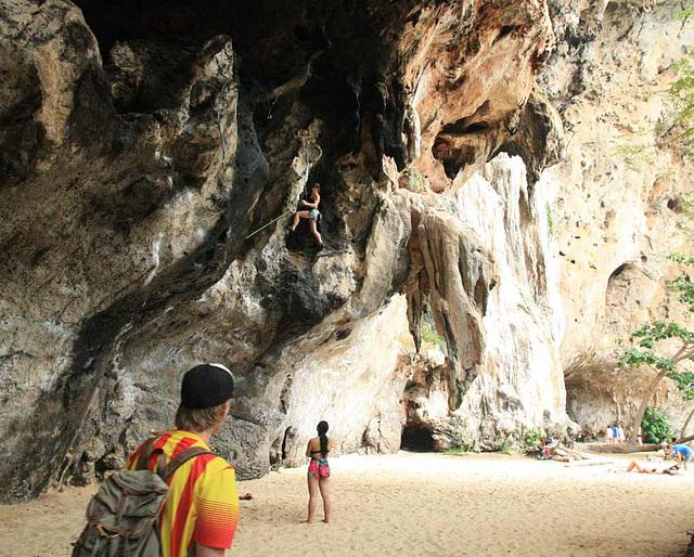 Cliff climbing at Railay