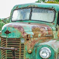 Rain on Rusty Truck