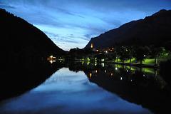 le Lauzet, lac la nuit