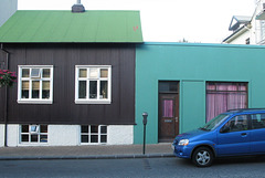 Bleu, bleu vert, vert.... (Reykjavik, Islande)