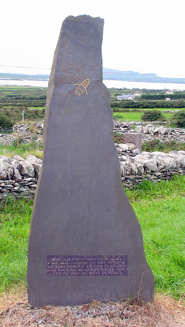 Dr Paddy Moriarty's Slate Gravestone in Kilmalkedar Churchyard on the Dingle Peninsula