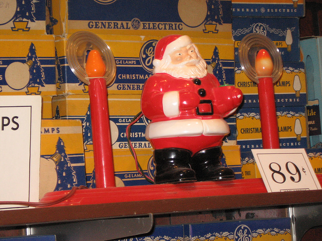 Santa Claus and Candles, Woolworth's Store Display at the National Christmas Center