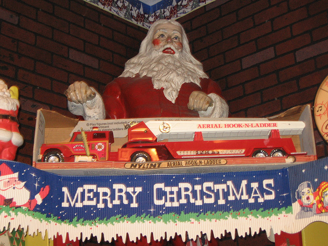 Nylint Aerial Hook-N-Ladder Toy Fire Truck, Woolworth's Store Display at the National Christmas Center