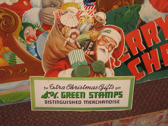Santa Claus and S&H Green Stamps, Woolworth's Store Display at the National Christmas Center