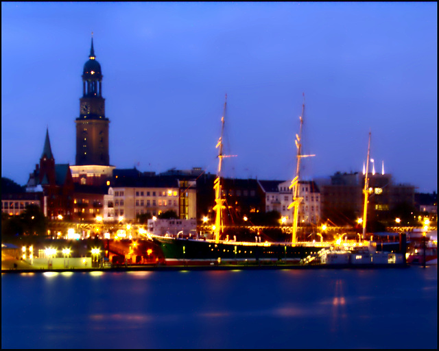 Skyline of Hamburg (Germany, Europe, Earth, Galactic Milkey Way, Universe, 42)
