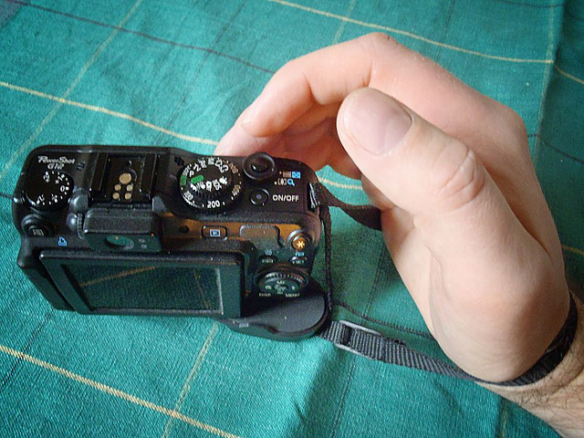 A hand strap for a pocket camera