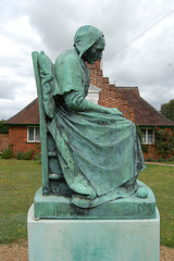 Bronze in front of Almshouses, Covert Road, Reydon, Suffolk