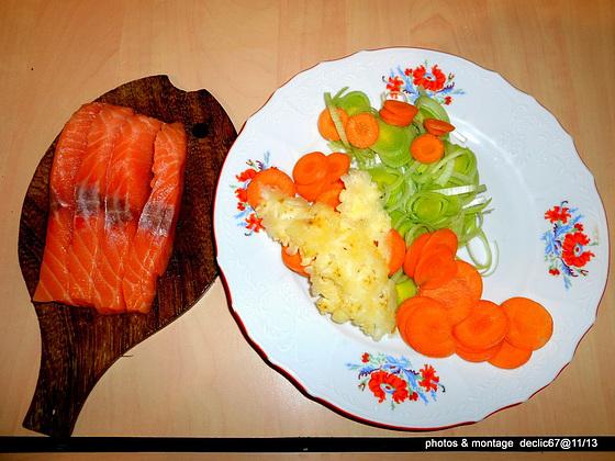 Papillotes de saumon  1