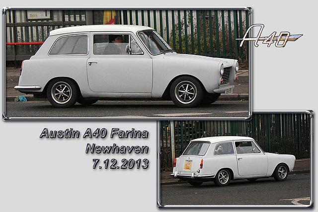Austin A40 Farina - Newhaven - 7.12.2013