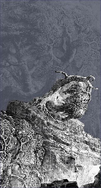 "Detail from John Martin's ""The Bard"""