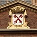 Coat of arms of Leiden on the side of the St. Pancras Church
